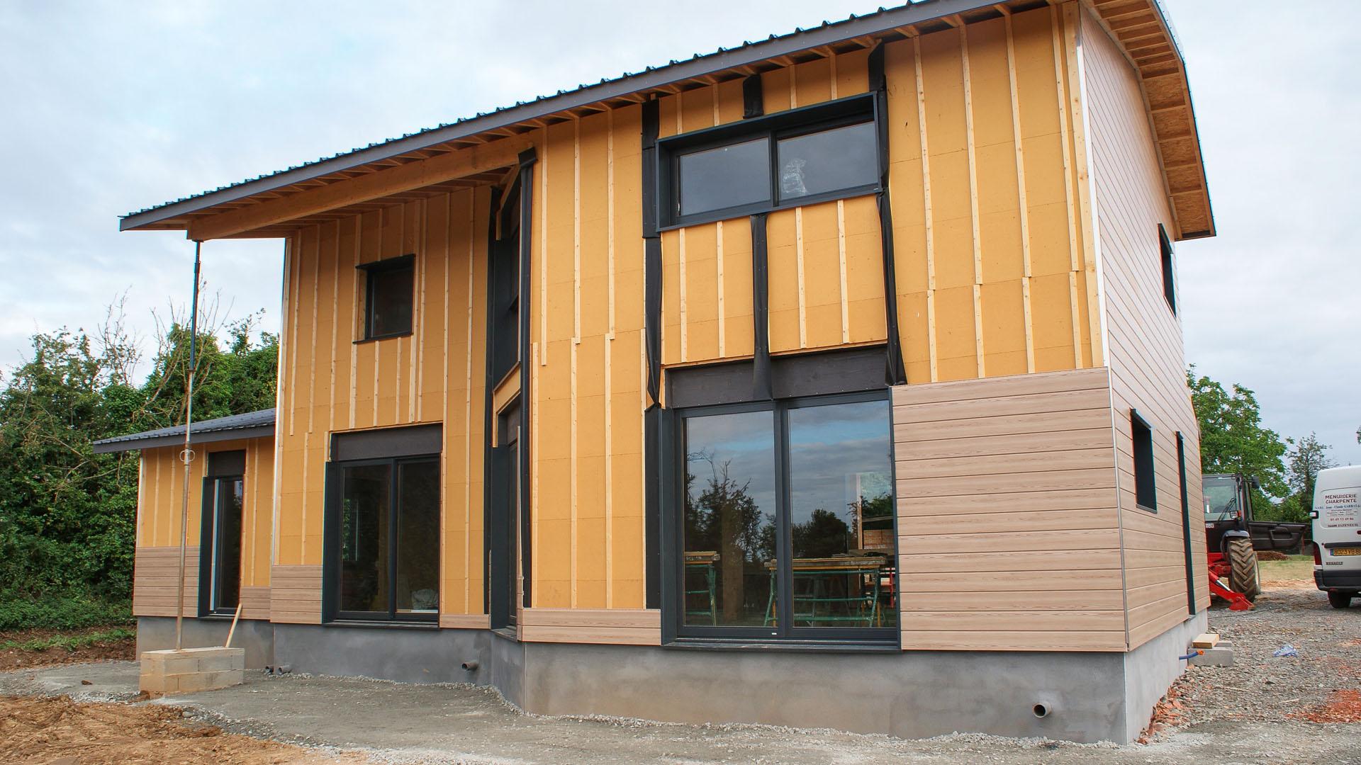 maison ossature bois sur mesure garrat menuiserie jc & fils menuisier sud vienne